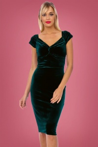Vintage Chic Velvet 50s Glenda Dress 100 40 26401 1