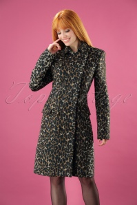 60s Lucy Leopard Coat in Brown