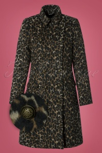 Smashed Lemon Animal Coat in Brown Leopard Print 25616 20180801 0007W