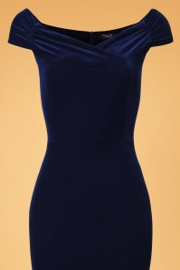 Vintage Chic Blue Velvet Fishtail Dress 108 20 26393 20171120 0001V