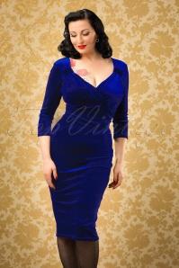 Vintage Chic TopVintage Exclusive Velvet Pencil Dress 100 20 26399 20161010 01W