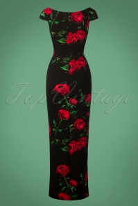 Vintage Chic Black Maxi Floral Dress 108 14 27035 20180920 0017W