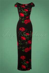 Vintage Chic Black Maxi Floral Dress 108 14 27035 20180919 0003W