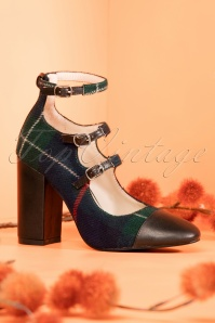 Yull Shoes Battersea Tartan Pumps 400 39 25976 09262018 007W