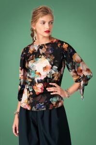 Closet Black Floral Blouse 112 14 27639 20151128 0001