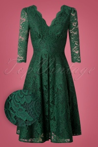 Jolie Moi Green Lace Pencil Dress 27516 20180926 0005W1