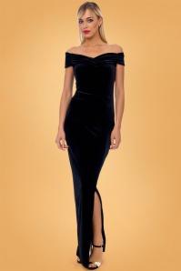 Vintage Chic Velvet Maxi Dress 27647 4