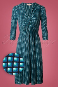 Jolie Moi Blue Pattern Dress 102 39 27517 20180926 0004W1