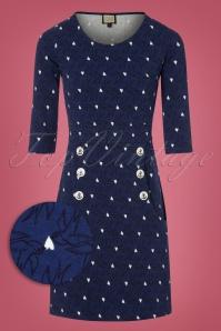 Mademoiselle Yeye Blue Dress With Swallows 106 39 25519 20180817 0001wv