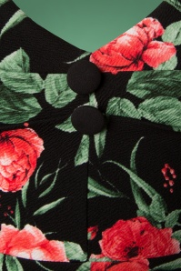 Vintage Chic Black Red Floral Dress 102 14 26459 20180926 0006
