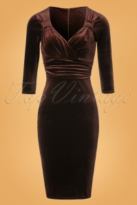 Vintage Chic TopVintage Exclusive Velvet Pencil Dress 26397 20161010 0003W