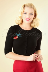50s Lucy True Love Cardigan in Black