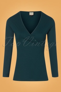 Mademoiselle Yeye Cross Top in Teal 113 30 25513 20180817 0001w