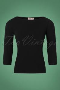 Vintage Chic Scuba Crepe Black Long Sleeve Shirt 113 20 26356 20180702 0001W