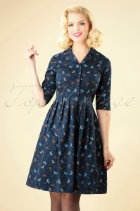 Circus Seed Swing Dress in Blue 102 39 25181 20180822 0003W