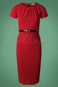 Vintage Chic Pleat Detail Pencil Dress 26387  20180926 0004W