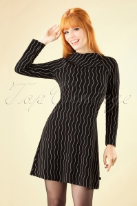Froy and Dind Rachel Black Striped Dress 25419 20180803 0002W
