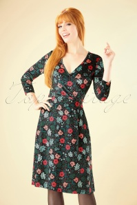 Mademoiselle Yeye Velvet Floral Cross Dress 102 14 25511 20180817 0002W