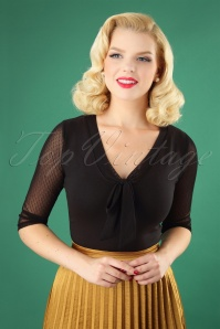 Heart of Haute 50s Inspire Top in Black