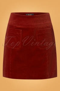 King Louie Lucie Skirt in Sienna Red 120 20 25293 20180807 0001w