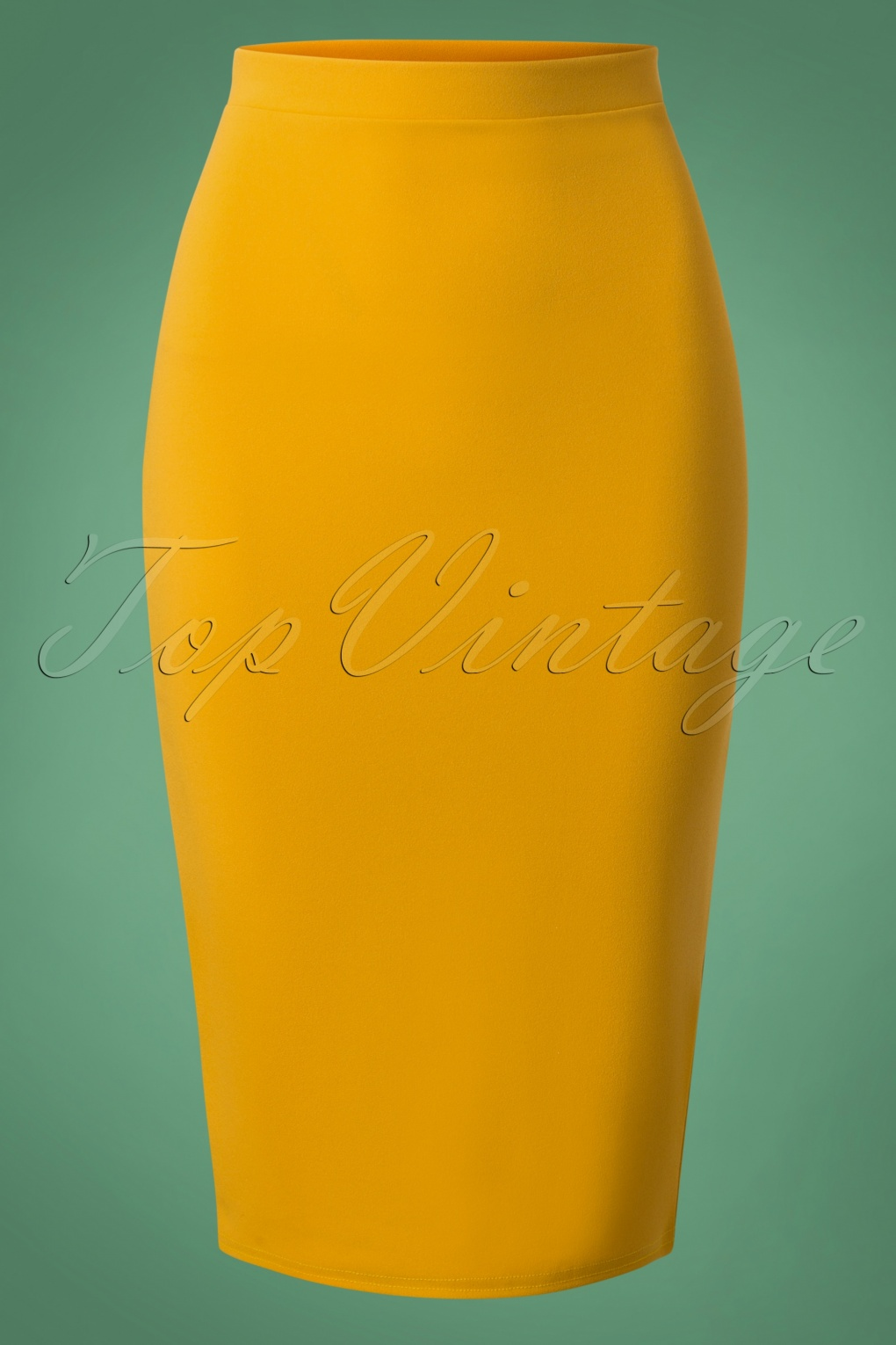 50s Bella Midi Skirt in Mustard