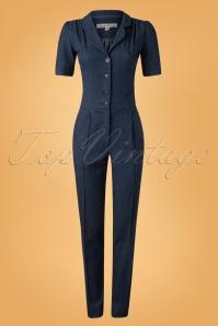 40s Classic Jumpsuit in Denim