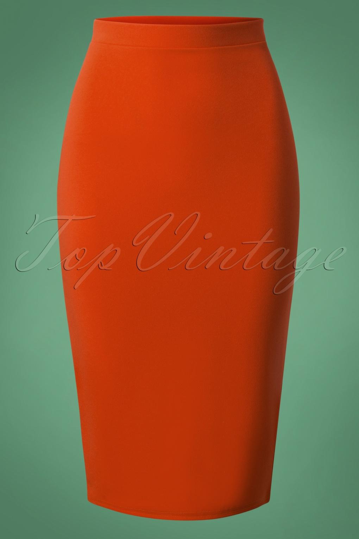 50s Bella Midi Skirt in Cinnamon
