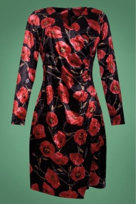 SmashedLemon BlackRedFloralVelvetPencilDress 100 14 25617 20171204 0002W