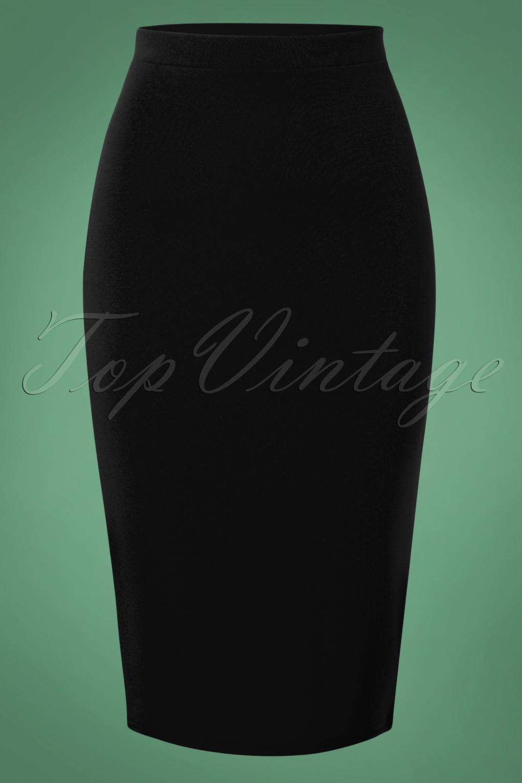 50s Bella Midi Skirt in Black