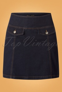 King Louie Lucy Skirt in Denim 123 30 25249 20180807 0003w