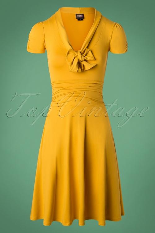 1bddac197faf1 Retrolicious Mustard Bow Swing Dress 102 80 27532 20180927 0005W