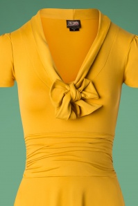Retrolicious Mustard Bow Swing Dress 102 80 27532 20180927 0005V