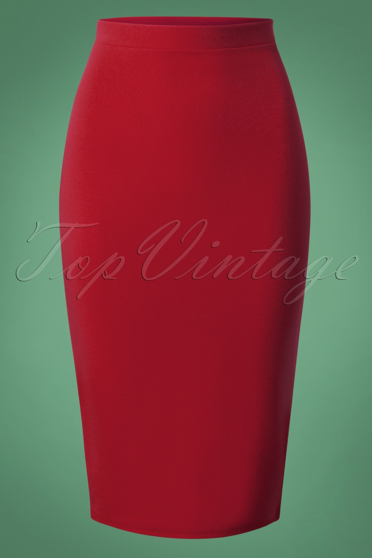 50s Bella Midi Skirt in Wine
