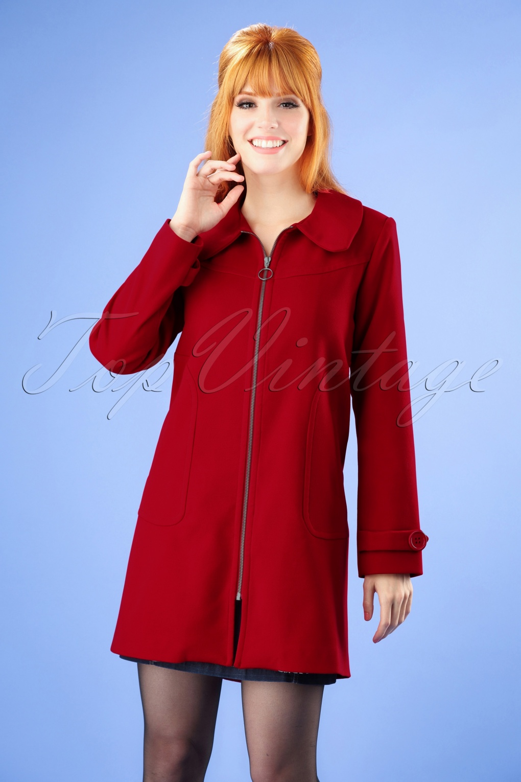 Vintage Coats & Jackets | Retro Coats and Jackets 60s For Those Cosy Moments Coat in Red £149.01 AT vintagedancer.com