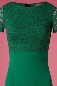 Vintage Chic Cap Sleeve Emerald Pencil Dress 100 40 26343 20180926 0004V
