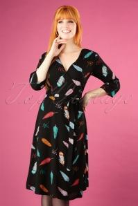 Sugarhill Boutique Aisha Vibrant Feather Dress 102 14 25568 20180817 1W