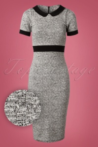 Vintage Chic Grey Pencil Dress 27318 20180927 0005V