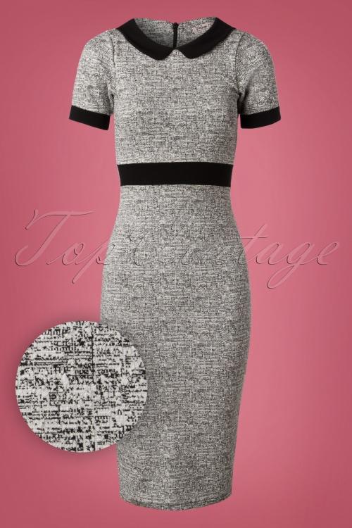 Vintage Chic Grey Pencil Dress 27318 20180927 0005V