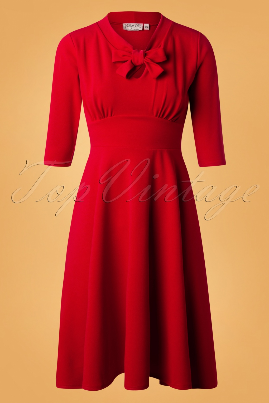 Vintage Christmas Dress | Party Dresses | Night Out Outfits 50s Geraldine Swing Dress in Red £52.49 AT vintagedancer.com