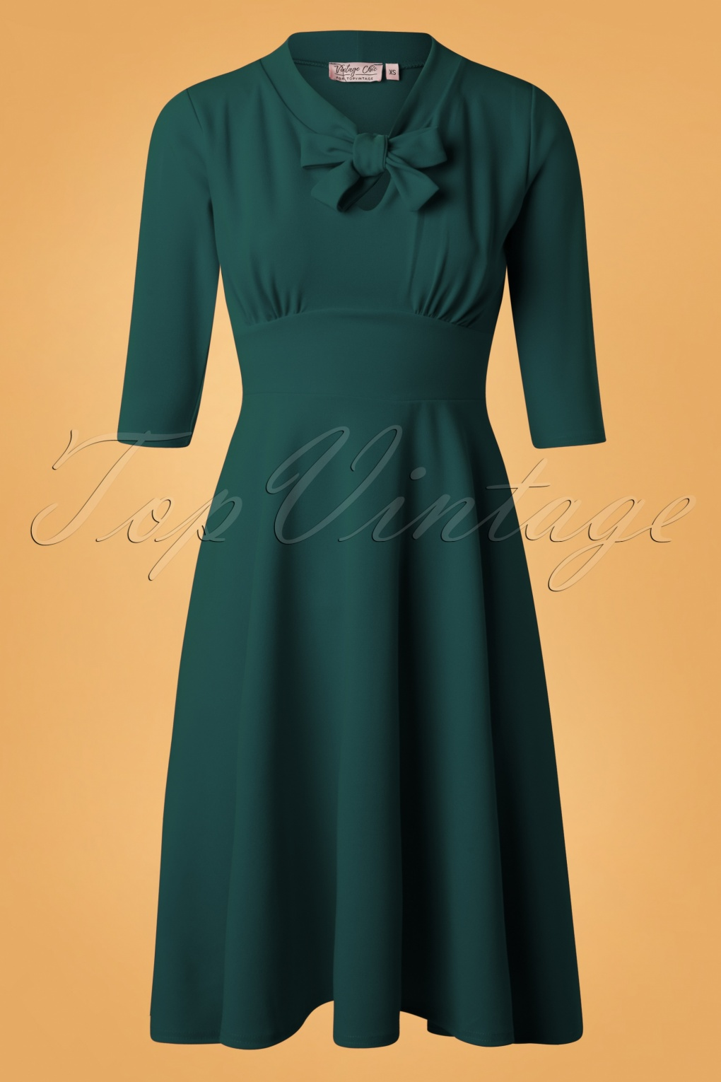 Vintage Christmas Dress | Party Dresses | Night Out Outfits 50s Geraldine Swing Dress in Petrol £52.49 AT vintagedancer.com