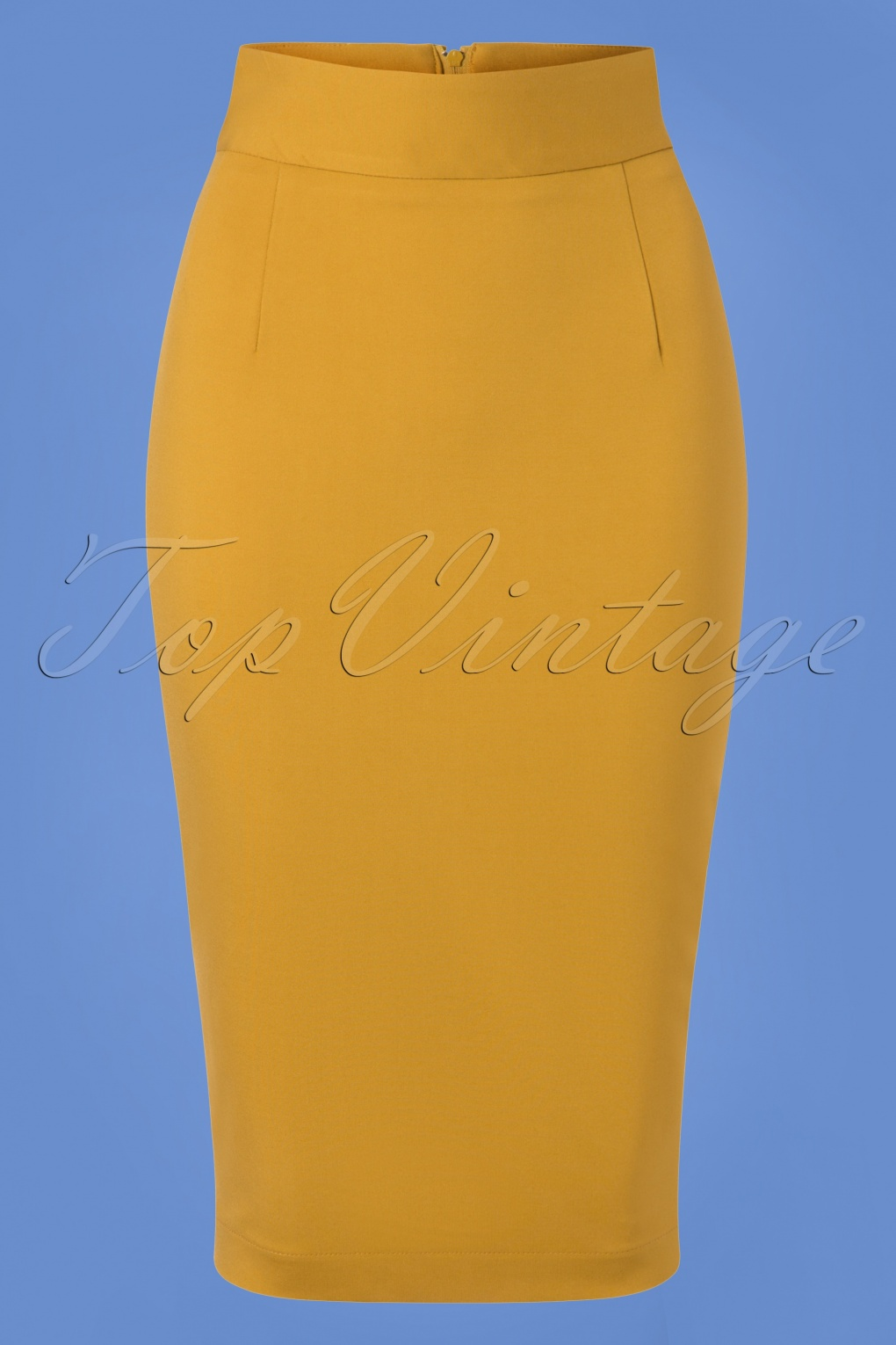 50s Dresses UK | 1950s Dresses, Shoes & Clothing Shops 50s Classic Pencil Skirt in Mustard Yellow £59.61 AT vintagedancer.com