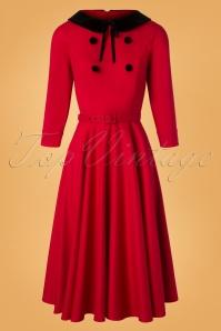 50s Christine Swing Dress in Red