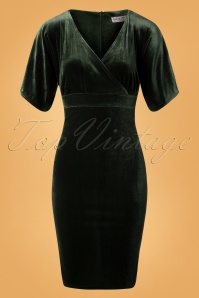 Vintage Chic Velvet Green Dress 100 40 26406 20180926 0004W
