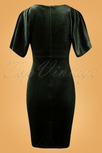 Vintage Chic Velvet Green Dress 100 40 26406 20180926 0002W