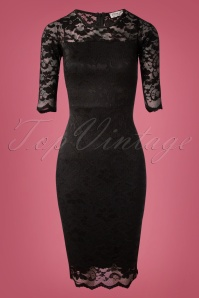 Vintage Chic Floral Lace Pencil Dress Black 100 10 26696 20180926 0006W