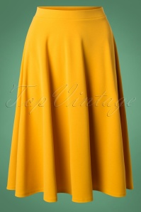 Vintage Chic Yellow Skirt 122 80 23704 20180928 0006W