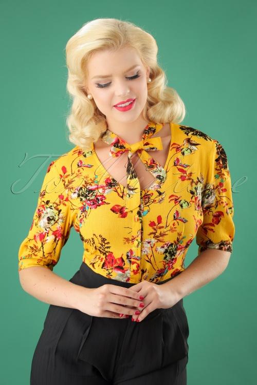 Vixen Katherine Mustard Floral Blouse 112 89 25038 20180920 01W
