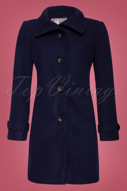Smashed Lemon Navy Plain Coat 152 31 25612 1W