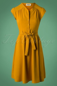 Circus Solid Mustard Swing Dress 102 80 25187 20180928 0006W
