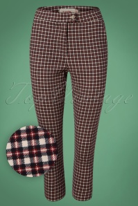 50s Ken Check Trousers in Cream and Red